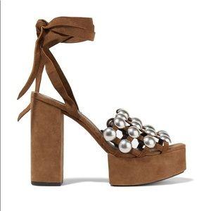 Alexander Wang embellished suede platform sandals
